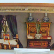 "Tuck's Postcard ""Titania's  Palace""  Bedroom of Princess Iris"
