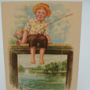 "Little Boy Fishing Postcard ""Jimmy"""
