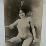 Risque Nude Photo Postcard