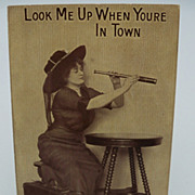 Photo Postcard &quot; Lady Ready for a Trip&quot;