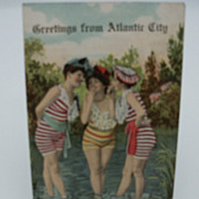 Postcard &quot;Greetings from Atlantic City&quot; Bathing Beauties