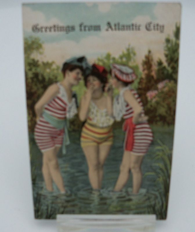 "Postcard ""Greetings from Atlantic City"" Bathing Beauties"