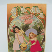 Embossed Easter Card with Adorable Children