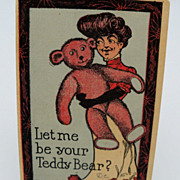 Artist Signed Teddy Bear Postcard
