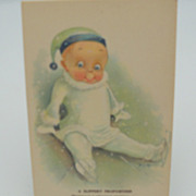 "Artist Signed Postcard F.S.M.  ""A slippery proposition"""
