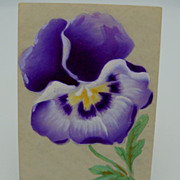 Postcard of Lavender Shades Pansy