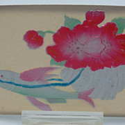 Embossed Floral and Fish Postcard