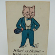 Postcard &quot;What is Home-Without A Bear&quot;