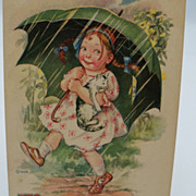 Gartner & Bender Postcard &quot;Optimistic Miss&quot;