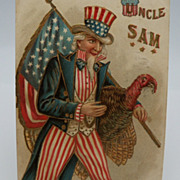 SOLD Postcard Thanksgiving Greeting from Uncle Sam