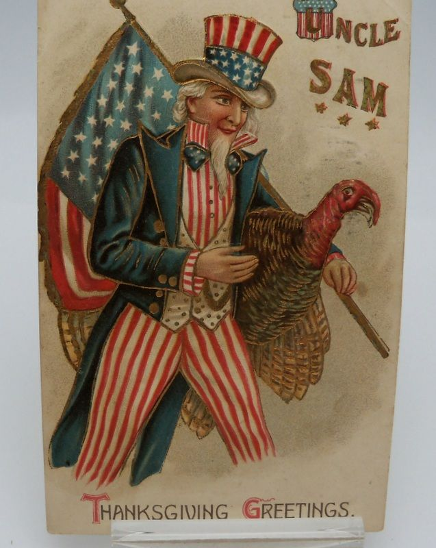 Postcard Thanksgiving Greeting from Uncle Sam