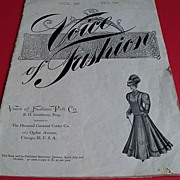 "Victorian ""Voice of Fashion"" Pattern Magazine"