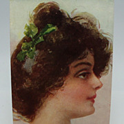 Elegant Lady's Head Postcard