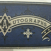 Blue Leather Victorian Autograph Book