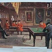 "Tuck's Oilette Postcard """"Chelsea Pensioners""  The Great Hall"