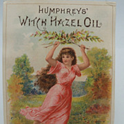 Advertising Trade Card Witch Hazel Oil