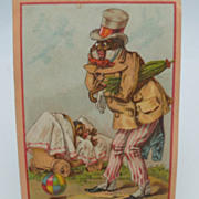 "Advertising Trade Card ""Bull Fertilizer"""
