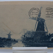 Photographic Postcard &quot;Windmills&quot;