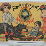 "Advertising Trade Card ""Childrens Shoes"""