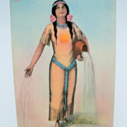"Postcard Showing Indian Girl ""Miss Spokane"""