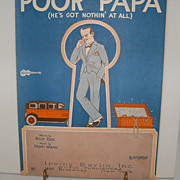 Irving Berlin Sheet Music &quot;Poor Papa &quot;