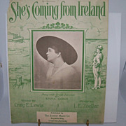 "Irish Sheet Music ""She's Coming from Ireland"""
