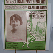 "Irish Sheet Music """"Twas Only an Irishman's Dream"""
