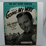 "Sheet Music Bing Crosby ""Going My Way"""