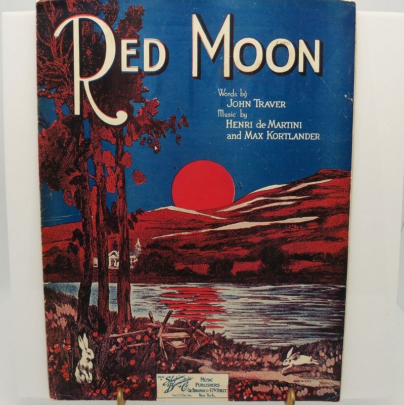 Sheet Music &quot;Red Moon&quot;