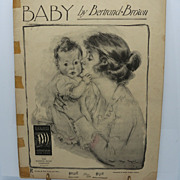 "Sheet Music ""Baby"" Mother and Child"