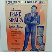 Sheet Music Frank Sinatra &quot;I couldn't sleep a wink last night&quot;