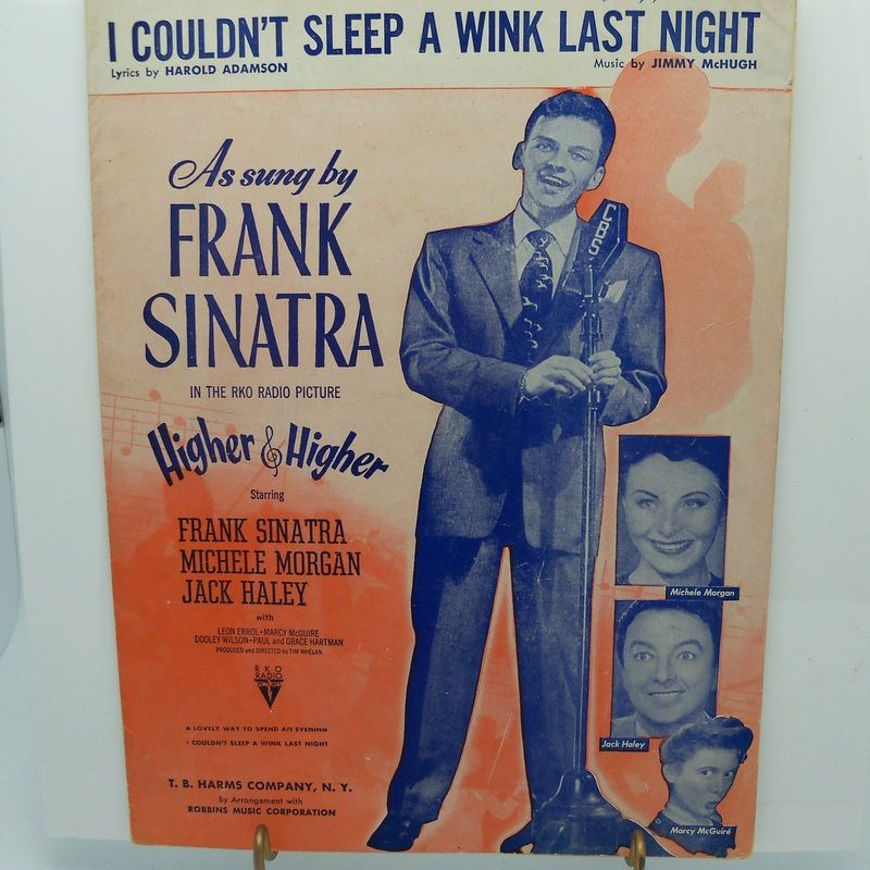 "Sheet Music Frank Sinatra ""I couldn't sleep a wink last night"""