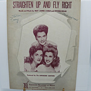 Sheet Music &quot;Straighten Up and Fly Right&quot; The Andrew Sisters