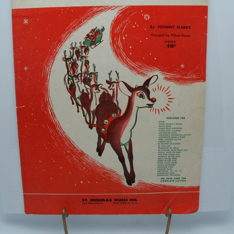 Sheet Music &quot;Rudolph the Red Nose Reindeer&quot;