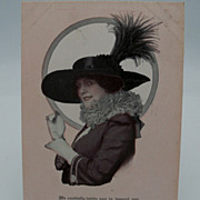 Advertising Postcard Hats and Hat Wearer
