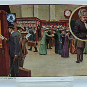 Advertising Postcard Bell Telephone   Keeping the Traveler in Touch