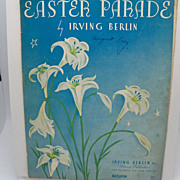 "Sheet Music ""Easter Parade"" by Irving Berlin"