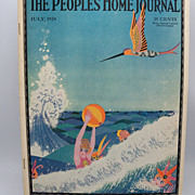 "Magazine ""The People's Home Journal"" July 1924 artist signed"