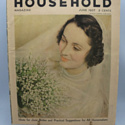 Household Magazine June 1937  Featuring June Brides