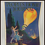 People's Home Journal July 1925 issue Balloon and Children