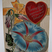 Morning Glory Flower Valentine Postcard