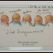 Twelvetrees Signed Children Postcard