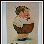 Giovanni Postcard Chubby Boy &quot;We live but once..&quot;