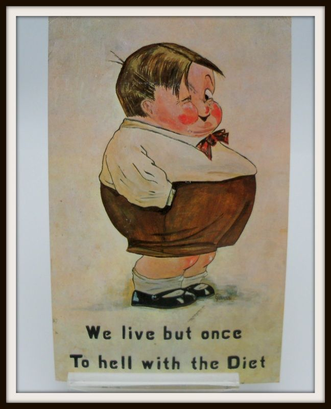 "Giovanni Postcard Chubby Boy ""We live but once.."""