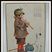 SOLD Sowerby Signed Postcard Ragged Homeless Boy with Dog