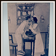 SOLD Staged Photograph of Maid Kissing Sailor