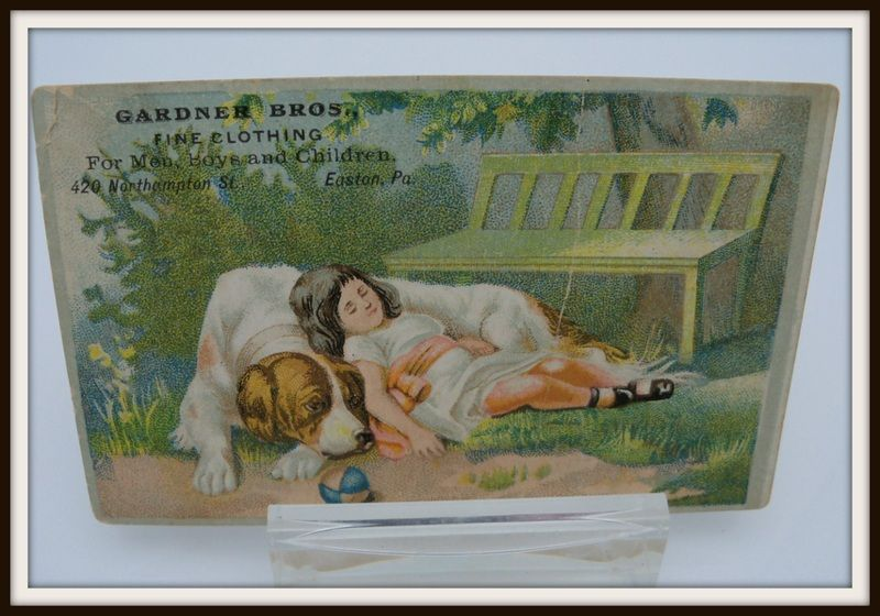 "Advertising Trade Card ""Garnder Bros Clothiers"
