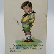 Sweet Boy with Happy Grin Postcard