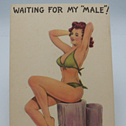 Bathing Beauty Artist Signed Postcard