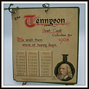 Tennyson Post Card Calendar for 1908